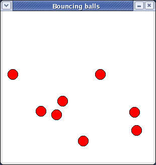 Bouncing balls on Red Hat Linux (Fedora)