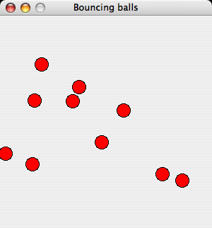 Bouncing balls on MacOS X (Panther)