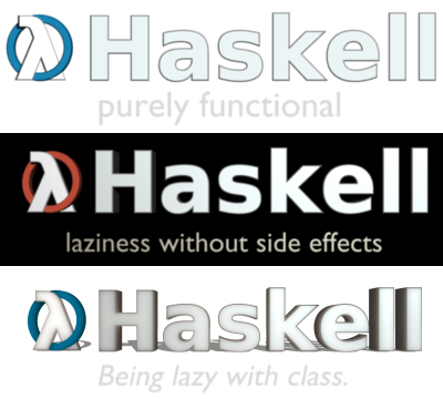 Haskell Logo idea with lambda as mascot
