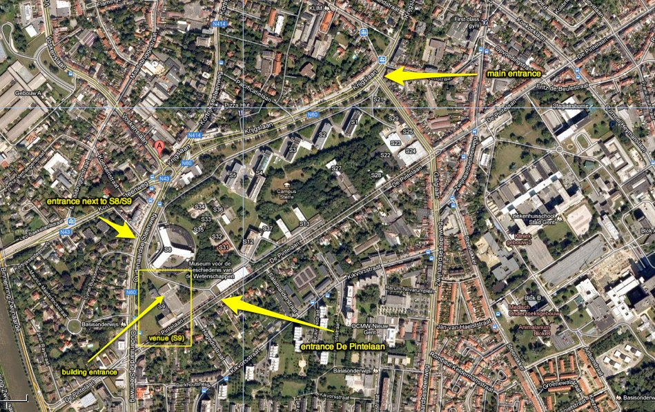 Location of the S9 building in Ghent