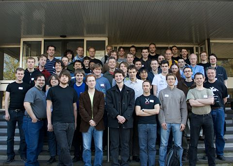 Group photo of almost all attendees, taken by Thomas Davie.