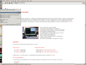 A screenshot of xmonad cooperating with gnome